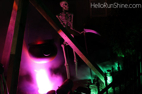 Cauldron Skeleton Haunt Scene