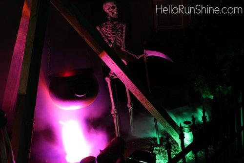 Cauldron Skeleton Haunt Scene