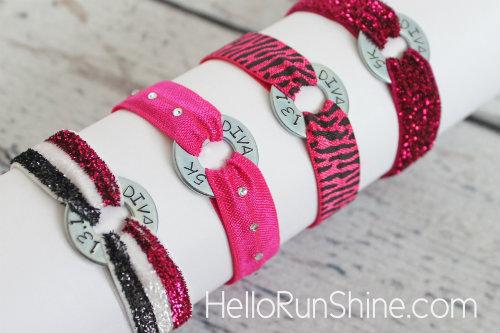 Diva Half Marathon & 5K Running Bracelet | HelloRunShine.com