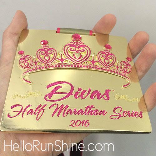 Divas Half Marathon Medal